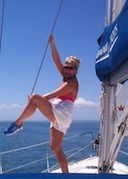 Ladies sailing on Moreton Bay Southern Cross Yachting